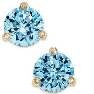 kate spade Gold-Tone Crystal Stud Earrings